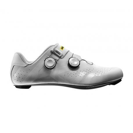 Chaussures MAVIC route Cosmic Pro blanc mat décor verni
