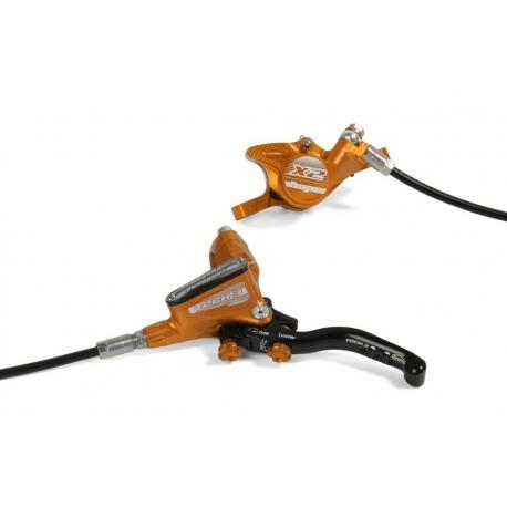 Frein à disque HOPE arrière Tech-3 X2 orange levier noir