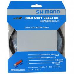 Cables+Gaine SHIMANO dérailleur route Dura-ace R9100 Noir cables avec polymère
