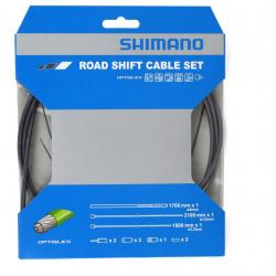 Cables+Gaine SHIMANO dérailleur route Optislik gris