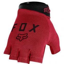 Gants courts FOX vtt Ranger Gel rouge bordeaux décor noir