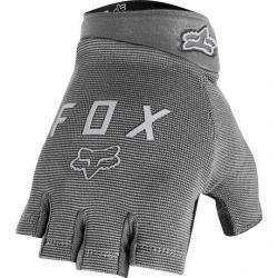 Gants courts FOX vtt Ranger Gel gris clair décor gris argent