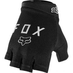 Gants courts FOX vtt Ranger Gel noir décor gris argent