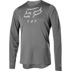Maillot manches longues FOX vtt Flexair Delta gris décor argent