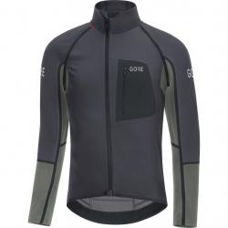 Maillot coupe-vent GORE C7 Windstopper Pro Soft Shell gris décor noir