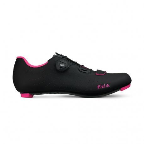 Chaussures FIZIK route femme R5 Tempo Overcurve noir décor rose fluo