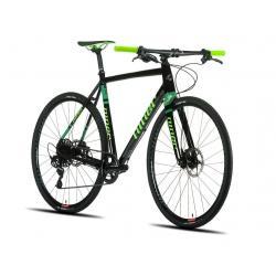 Vélo course gravel alu NINER RTL9 Apex FB noir décor vert et vert néon