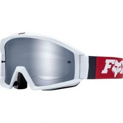 Masque FOX vtt Main Cota blanc décor rouge et bleu