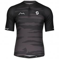 Maillot manches courtes SCOTT Endurance 20 noir décor gris camouflage