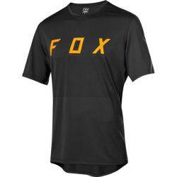Maillot manches courtes FOX vtt Ranger noir décor logo orange