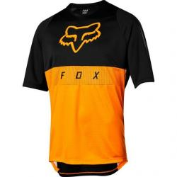 Maillot manches courtes FOX vtt Defend Moth orange décor noir