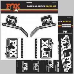 Décor autocollants Stickers FOX/R/RSHOX complet Heritage Blanc pour fourche et amortisseur arrière