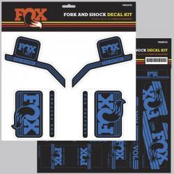 Décor autocollants Stickers FOX/R/RSHOX complet Heritage Bleu roi pour fourche et amortisseur arrière