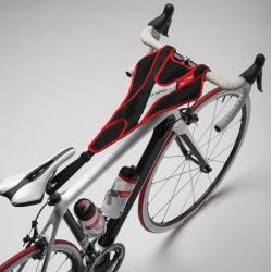 Serviette de protection ELITE tissu éponge Protec Plus noir décor rouge et blanc