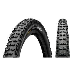Pneu 27.5p CONTINENTAL vtt Trail King II Performance 27.5 Tubeless Ready noir flancs noirs