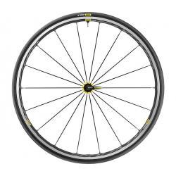 Roues à pneu 700 MAVIC route Ksyrium Elite UST Yellow 25 noire décor jaune
