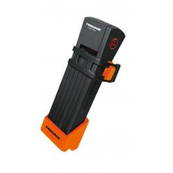 Antivol lame TRELOCK pliable Two.Go FS200/75 noir support orange