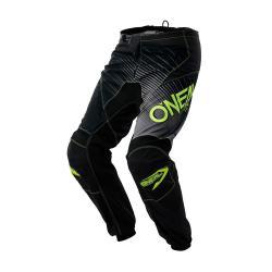 Pantalon ONEAL 2018 bmx et vtt Element Racewear noir décor gris et jaune fluo