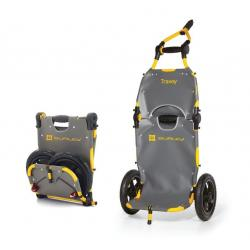 Remorque matèriel BURLEY caddie Travoy grise chassis jaune