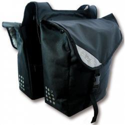 Sacoche BONTRAGER arrière double cavalière InterChange Ride+ noir sur porte-bagage