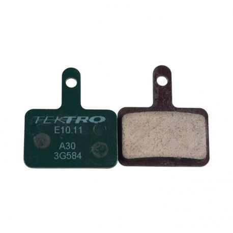 Plaquettes de frein TEKTRO support acier E10.11 verte Organic