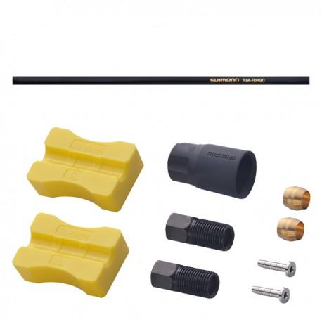 Durite SHIMANO arrière frein hydraulique BH90 0 degré Droit noire