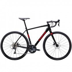 Vélo course gravel alu TREK 2020 CheckPoint AL 3 Disc noir brillant décor rouge