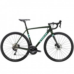 Vélo course gravel alu TREK 2020 CheckPoint ALR 5 Disc vert British Racing décor blanc