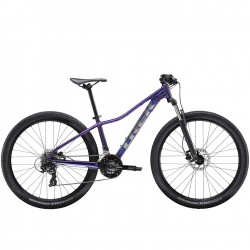 Vélo VTT femme 29p alu - TREK 2021 Marlin 5 - Violet Flip Décor argent