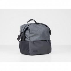 Sacoche BONTRAGER arrière latérale City Shopper noir décor gris sur porte-bagage
