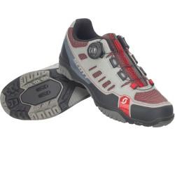 Chaussures SCOTT vtt femme Crus-R Boa Lady gris clair décor rouge