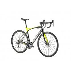 Vélo course carbone LAPIERRE 2019 Pulsium SL 600 Disc CP noir brillant décor jaune néon et blanc