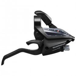 Levier+manette SHIMANO vtt 7v EF500 V-brake Droite 2D noir