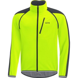 Veste coupe-vent GORE C3 Phantom Windstopper jaune fluo décor noir