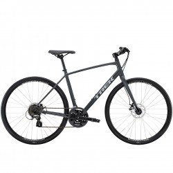 Vélo route fitness alu - TREK 2021 FX 1 Disc - Gris anthracite Solid Décor gris