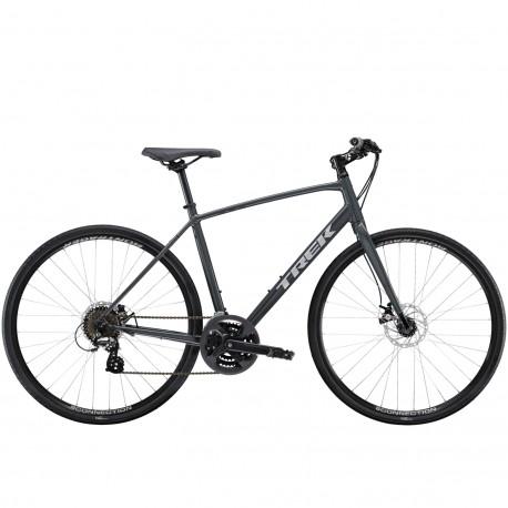 Vélo route alu TREK 2020 fitness FX 1 Disc gris anthracite Solid décor gris