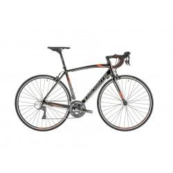 Vélo course alu LAPIERRE 2019 Audacio 100 CP Compact noir décor orange et gris