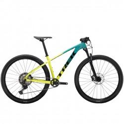 Vélo VTT 29p alu - TREK 2021 X-Caliber 9 - Dégradé jaune Volt Fade et Vert Teal Décor noir