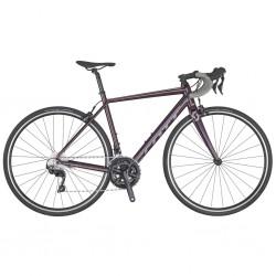 Vélo course femme alu SCOTT 2020 Contessa Speedster 15 Compact violet aubergine décor gris
