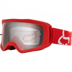 Masque FOX vtt Main 2 Race rouge décor blanc