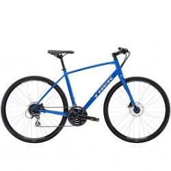 Vélo route alu TREK 2021 fitness FX 2 Disc bleu Alpine décor argent