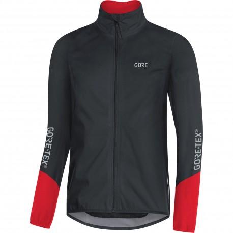 Veste imperméable GORE C5 GoreTex Active Shell noir décor rouge