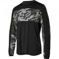 Maillot manches longues FOX hiver Ranger noir décor camouflage