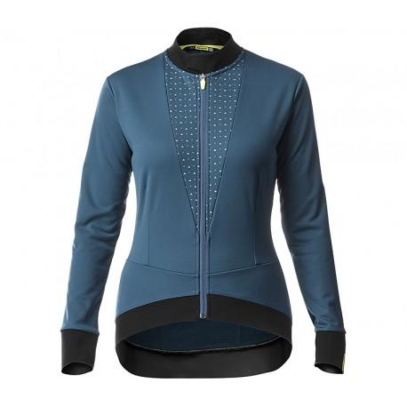 Veste thermique MAVIC hiver femme Sequence Thermo bleu pétrole décor gris