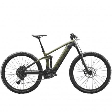 Vélo électrique VTT 29p alu - TREK 2020 Rail 5 500 - Vert olive mat Décor gris et noir
