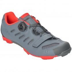 Chaussures SCOTT vtt Team Boa gris décor orange fluo