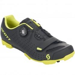 Chaussures SCOTT vtt Comp Boa noir mat décor jaune fluo