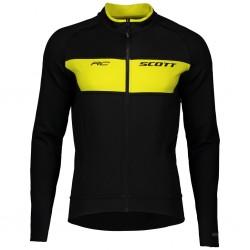 Veste thermique SCOTT hiver RC Warm Reversible noir décor jaune fluo