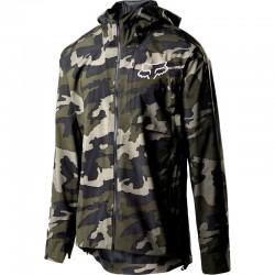 Veste imperméable FOX vtt Flexair Pro 3L vert camouflage décor noir et gris