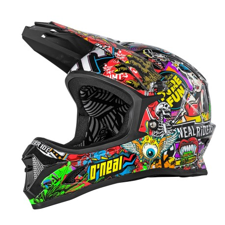 Casque intégral ONEAL enfant Backflip Youth Crank multicolore